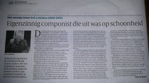 In memoriam Volkskrant December 2015
